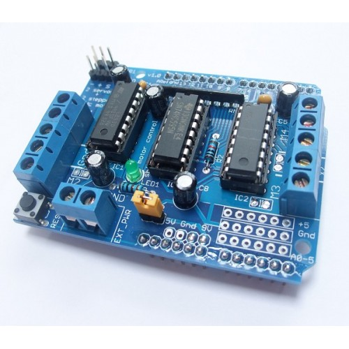 Arduino motor driver shield motorshld for Arduino servo motor shield