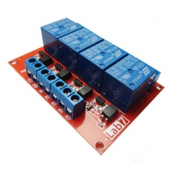 4 Channel 5V Relay Module 10A (high trigger)