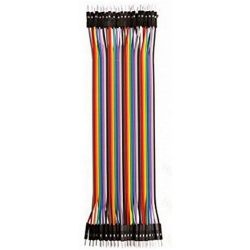 HobbyTronics Ribbon Cable Jumper Wires Male 40 (20cm)