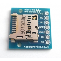 HobbyTronics Breakout Board for microSD Flash Drive