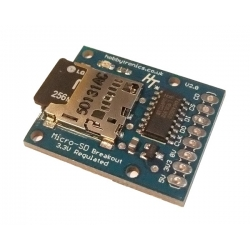 HobbyTronics MicroSD Breakout Board Regulated with Logic Conversion V2