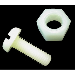 HobbyTronics Nylon Nuts and Bolts M3x12 (pack 10)