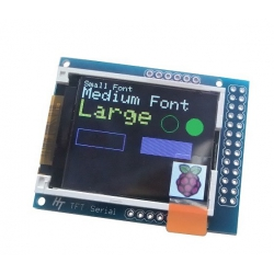 HobbyTronics Serial Graphic TFT Display 1.8in - KIT