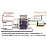 DRV8824 Stepper Motor Driver Carrier, Low Current