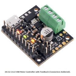 Pololu Jrk G2 21v3 USB Motor Controller with Feedback (Connectors Soldered)