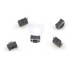 Mini PCB Pushbutton Switch: 2-Pin, SPST, 50mA (5-Pack)