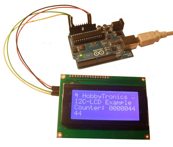 LCD I2C Backpack and Arduino Uno