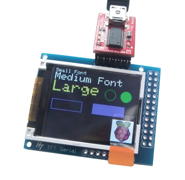TFT Serial Display with FTDI Basic