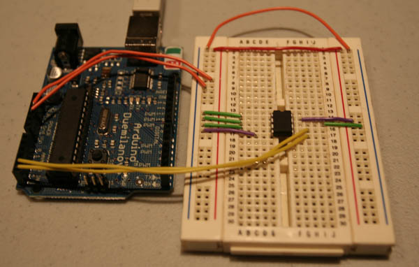 Adding external i c eeprom to arduino lc